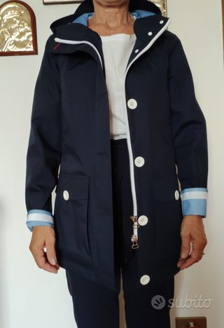 Trench Giacca donna blu CANADIENS