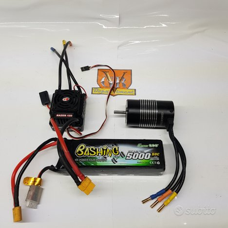 Kit brushless 1/8 150a waterproof lipo 4s