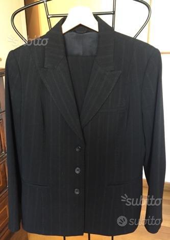Tailleur pantalone grigio scuro, taglia 46