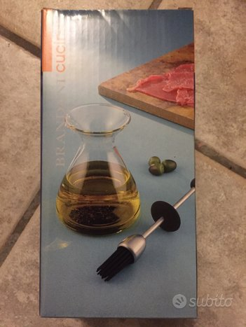 Contenitore per olio con pennello Brandani NUOVA