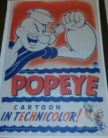 Manifesto vintage Popeye