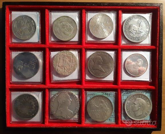 Lotto 12 monete argento mondiali varie