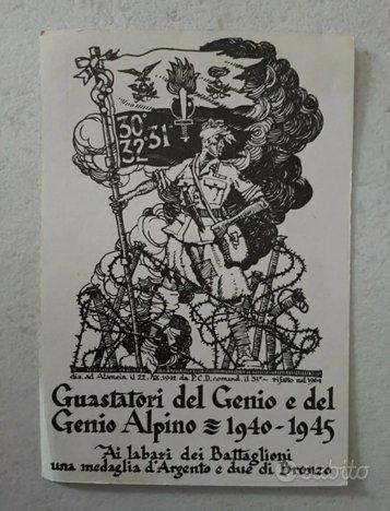 Paolo Caccia Dominioni disegno Cartolina 1940-1945