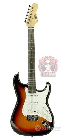 Oqan qge-st10sb chitarra elettr. sunb. tipo strato