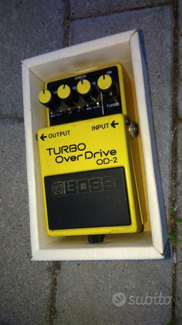 Pedale chitarra boss turbo over drive od 2