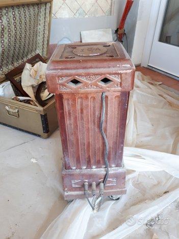 Vecchia stufa elettrica in ceramica