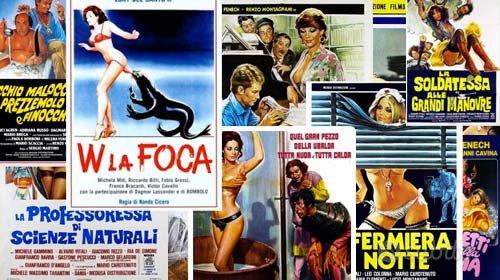 Rarissimi materiali sulla commedia sexy italiana