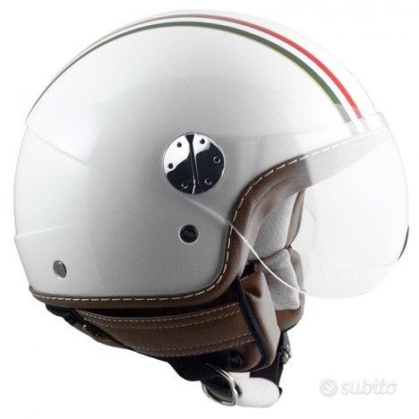 Casco jet cgm 109i italia rifiniture in ecopelle