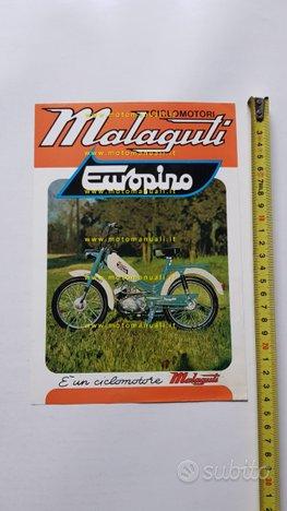 Malaguti 50 Europino anni 70 depliant Ciclomotore