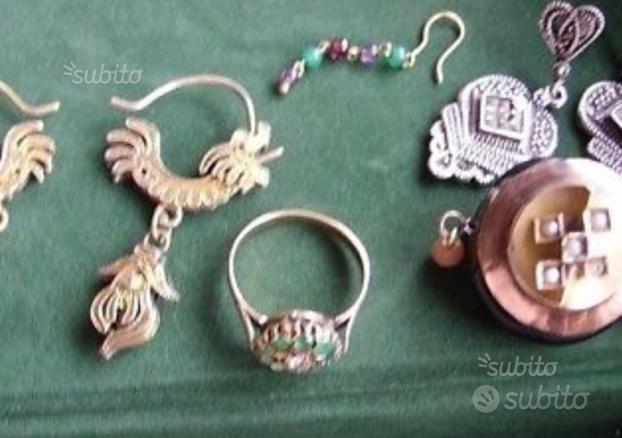 Gioielli Antichi, Anelli e orecchini oro diamanti