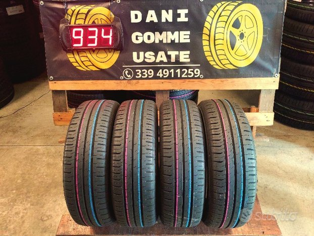 4 Gomme Usate 185 65 15 ESTIVE 75% al CONTINENTAL