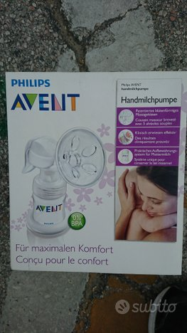 Tiralatte Avent Philips manuale e vasetti