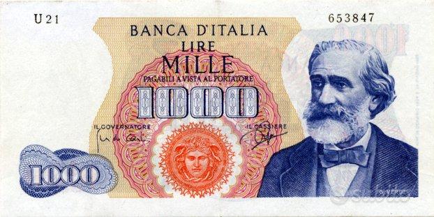 Banconota da 1000 lire Verdi I° serie