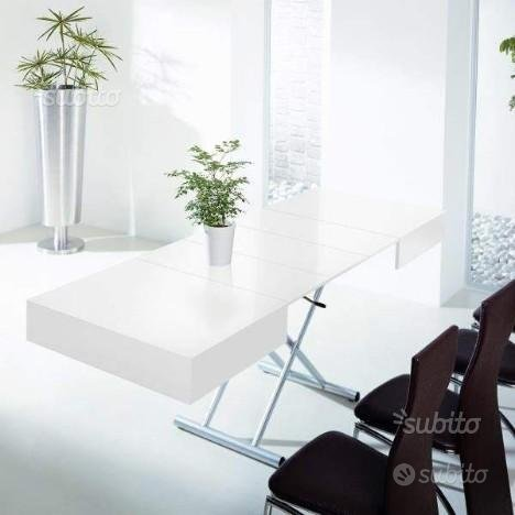 Tavolino trasformabile a roma ella bianco