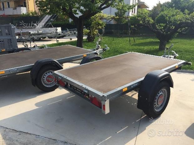 Carrello Rimorchio 250x130 cm da 750 kg a 1300 kg
