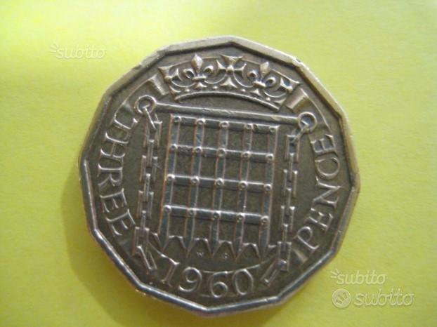 3 - Tre Pence Inglese 1960 Rif. 211