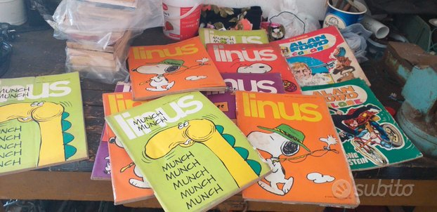 Lotto fumetti linus e alan ford anni 70