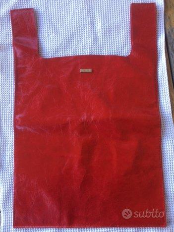 Borsa pelle ORCIANI, rosso brillante, tipo shopper