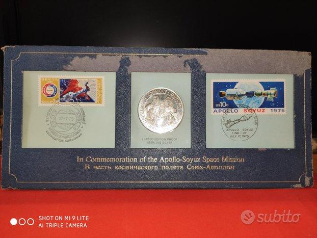 Medaglia busta francobolli Apollo Soyuz 1975