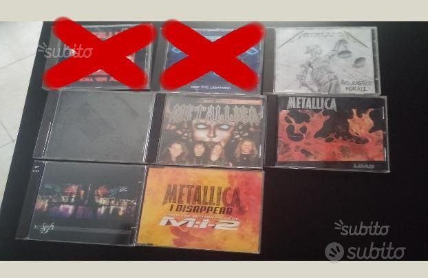 CD MetallicA originali