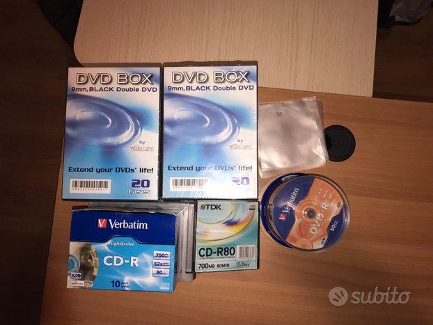 CD e DVD vergini con custodie