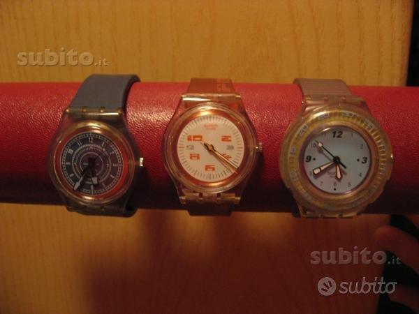 Lotto di 3 orologi swatch originali