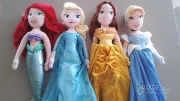 Bambole Principesse di stoffa della Disney nuove