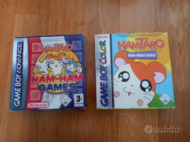 2 giochi Hamtaro Game Boy Color Advance completi