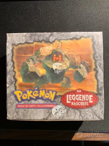 Display box sealed EX LEGGENDE NASCOSTE pokemon
