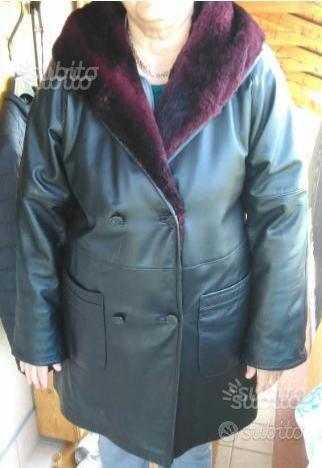 RIBASSATO cappotto donna vera pelle e pelliccia