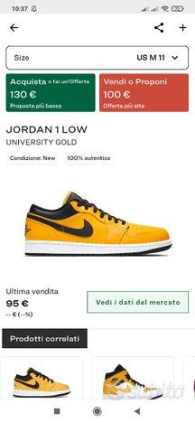 Jordan One University Gold taglia 11