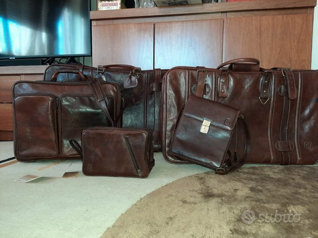Set valigie in pelle