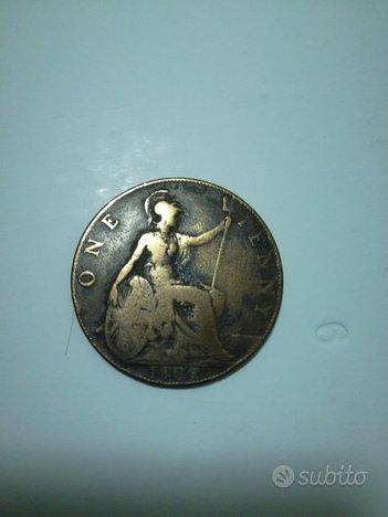 One penny 1909 Edwardus VII
