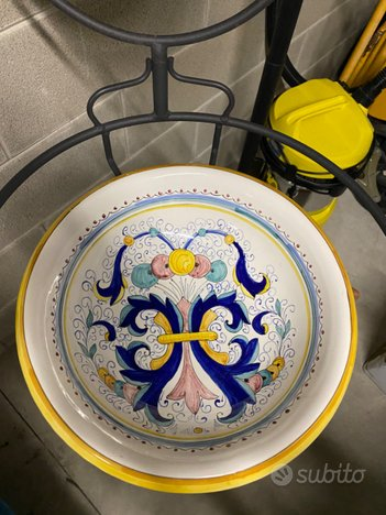Vintage Lavabo di Deruta in ceramica fatto a mano