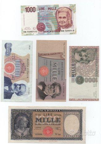 Banconote da l. 1000 serie tipologica