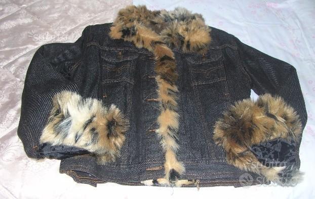 Giubbino in jeans con finiture di pelliccia