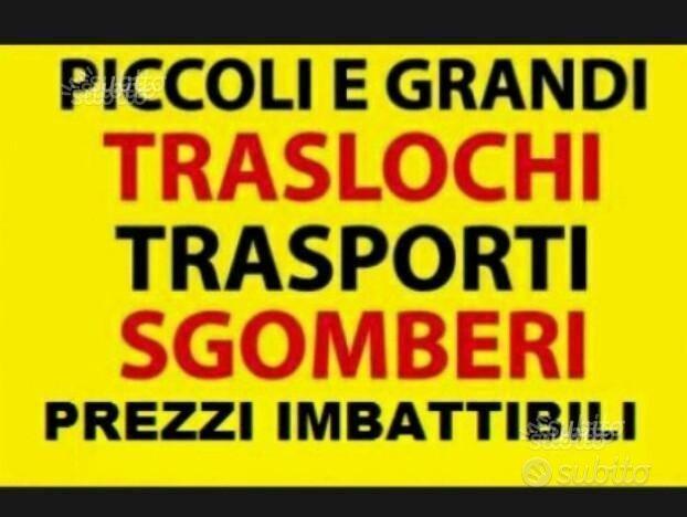 Traslochi-Sgomberi-Noleggio autoscala / furgone