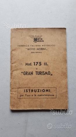 Moto Morini 175 - 175 GT anni 50 manuale uso itali