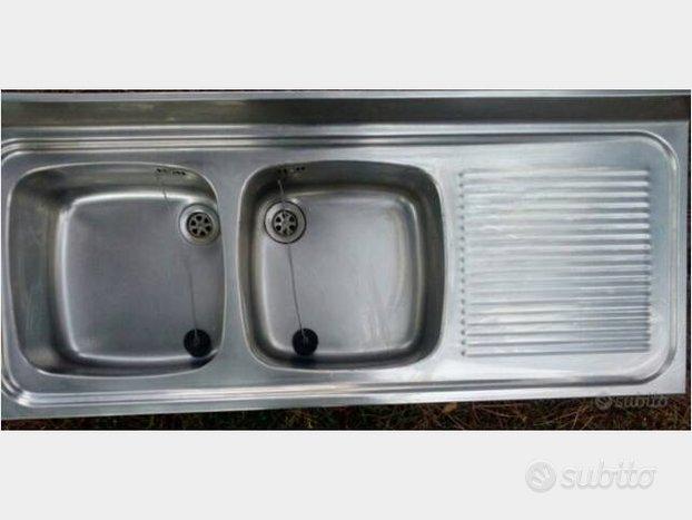 Lavello in acciaio inox a 2 vasche - Arredamento e ...