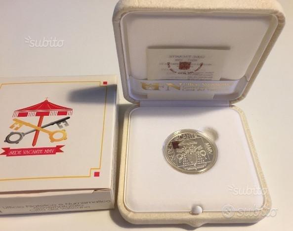 Vaticano 2005 - 5 euro argento sede vacante