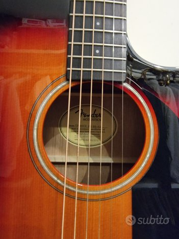 Fender chitarra acustica amplificata