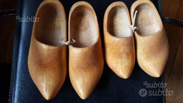 Zoccoli legno olandesi 2 paia