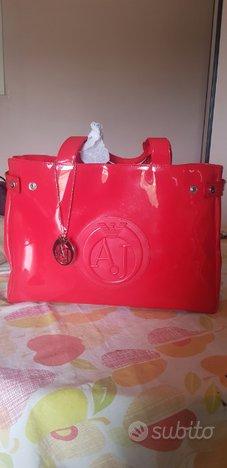 Borsa Shopping Armani Jeans Rossa
