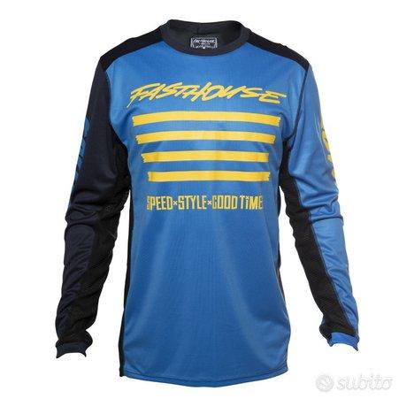 Completo fasthouse cross enduro vintage blue 2020