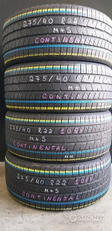 4 gomme usate 275 40 22 108y continental al 78%