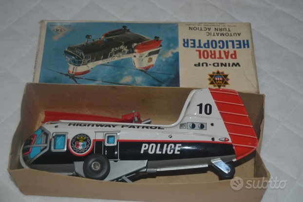 Tin TOY Nomura Win up patrol helicopter police an