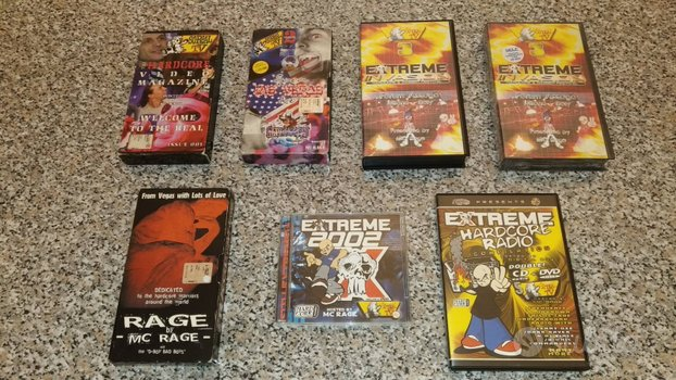 Videocassette dvd Soreal TV McRage hardcore gabber