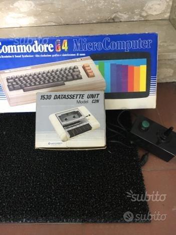 Commodore 64 + datasette + joystick