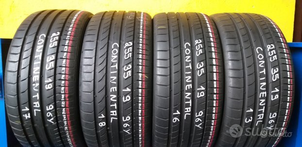 4 gomme 255 35 19 continental estive