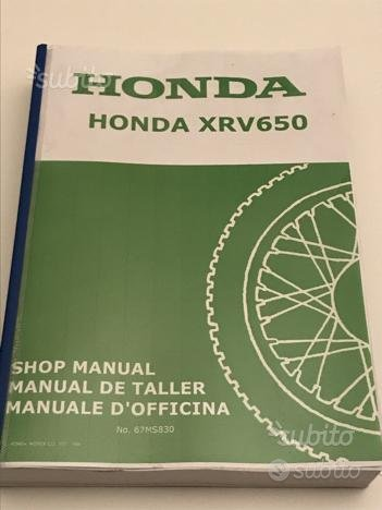 Honda Africa Twin 650 RD03 Manuale Officina
